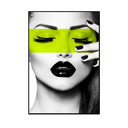 RTCKF Pittura Decorativa Effetto HD Soggiorno Camera da Letto Appartamento Bellezza Astratta Bianco e Nero Singolo Dipinto Senza Cornice C 60cm * 80cm