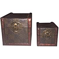 2 Mini-Baúl Caja Decorativa de Abeto Color Marrón Estilo Antiguo - Muebles de Dormitorio precios