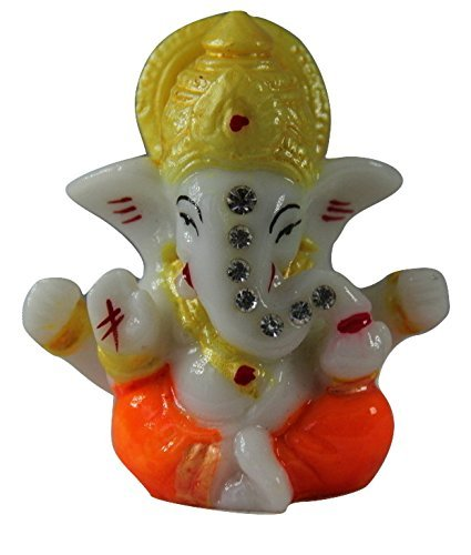eCosmosTM Ganesh Idol For Car Dashboard   Home Decor   Gifting   Size 2.5 inches   (Color Assorted)  available at amazon for Rs.156