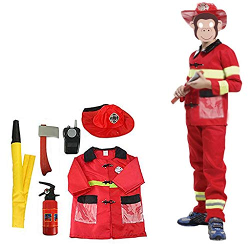 BIEE Kinder Dress-Up Set Feuerwehrmann Rollenspiel Kinderkostüm-Rollenspiel