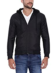 Campus Sutra Men Black Jacket(AW16_JK_M_PLN_P13_BL_S)