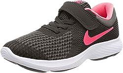 Nike Unisex-Erwachsene Revolution 4 (PSV) Sneaker, Schwarz (Black/Racer Pink. 004), 35 EU