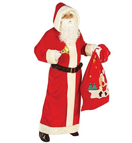Nikolausmantel rot Plüsch, mit Gürtel, Größe XL (Die Joker Kostüme Für Erwachsene)