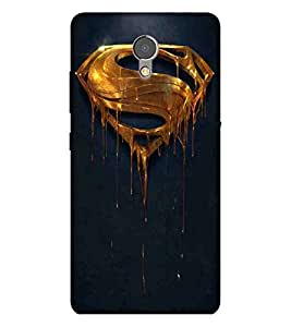 For Lenovo P2 big s, icon, gold icon, blue background Designer Printed High Quality Smooth Matte Protective Mobile Case Back Pouch Cover by APEX