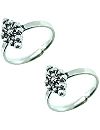 Style A Bit Sterling Silver Toe Ring Set For Women TOE002