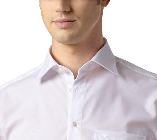 Seidensticker Herren Businesshemd Modern extra langer Arm mit Kent-Kragen bügelfrei Weiß