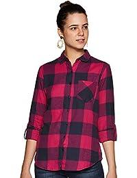 Amazon Brand - Inkast Denim Co. Women's Checkered Slim fit Shirt