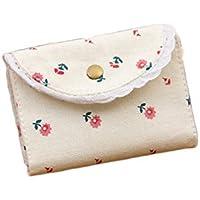 westeng–Bolso de tela, diseño de pequeña flor bolsa de moneda niña mujeres