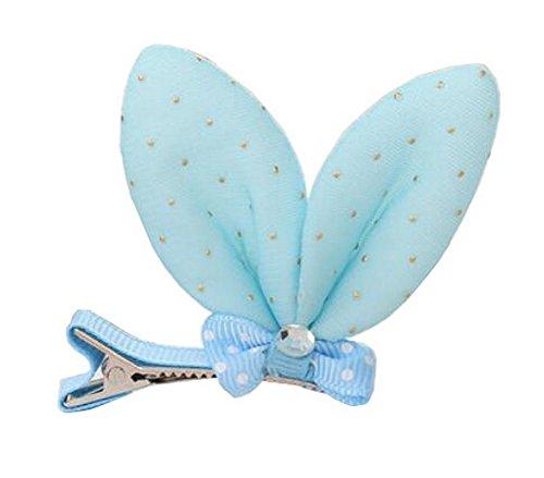 cheveux bleu filles broches barrettes de conception des oreilles de lapin, 10PCS