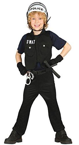 Kostüm für Kinder Gr. 98 - 146, Größe:98/104 (Cop Outfit Zu Halloween)