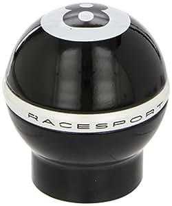 Sumex 850111B Pommeau de levier de vitesse en aluminium avec bague de marche arrière Noir/balle de billard 8