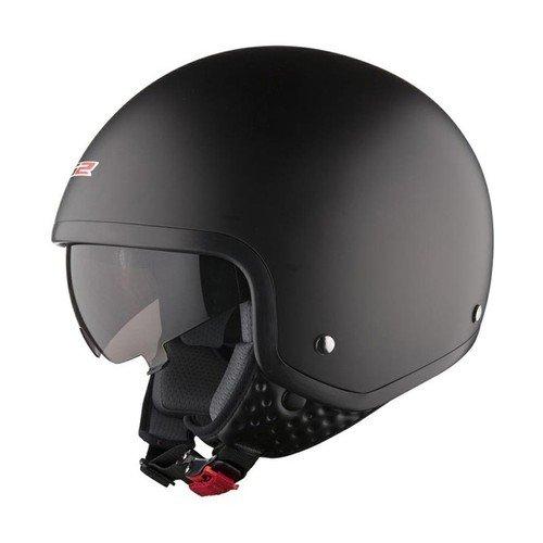 LS2 OF561.1 WAVE Casco integrale con visiera parasole regolabile, colore: nero