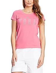 XFORE golf stretch T-Shirt manches courtes Strass Logo Daitona en pink