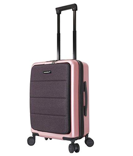 Trolley-Laptop-Tasche Geschäfts-fahrbare Kabine sortierte Computer-Tasche Aktenkoffer weitermachen Roller-Kästen, Pink, 20 inch (Fahrbare Notebook)