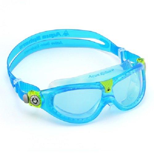 Aqua Sphere Unisex Jugend Seal Kid 2 Schwimmmaske Blaue Gläser - Aqua One Size