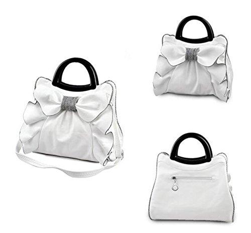 QPALZM QPALZM 2017 Neue Frau Bogen Handtasche Süße Damen Tasche Mode Schultertasche Dame Messenger Bag Beige