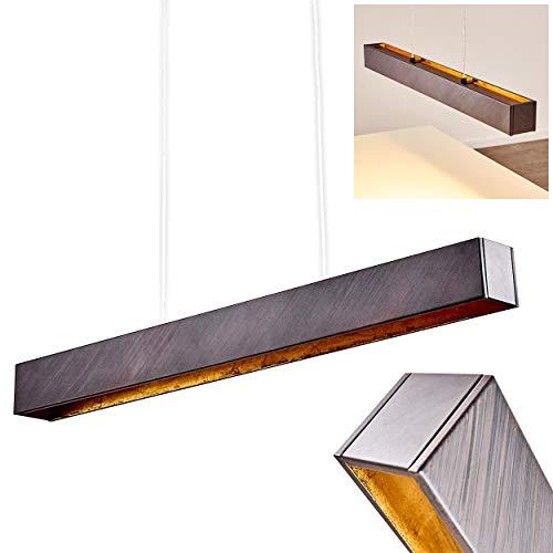 Lámpara colgante de metal LED para mesa de comedor, cocina y salón estilo moderno y futurista - lámpara de techo de diseño regulable en altura - 3000 Kelvin - 850 Lumen.
