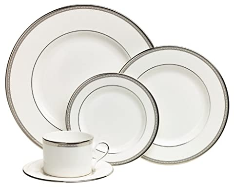 Lenox Murray Hill Platinum-Banded Bone China 5-Piece Place Setting, Service for 1 by Lenox