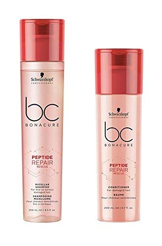 Schwarzkopf Bonacure Peptide Repair Rescue Micellar Shampoo 250ml & Conditioner 200ml -
