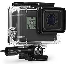 Kupton Carcasa para GoPro Hero 6/5 Case de Buceo Impermeable Protectora Sumergible hasta 45 m para Go Pro Hero6/5 Black