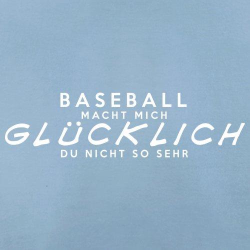 Baseball macht mich glücklich - Herren T-Shirt - 13 Farben Himmelblau