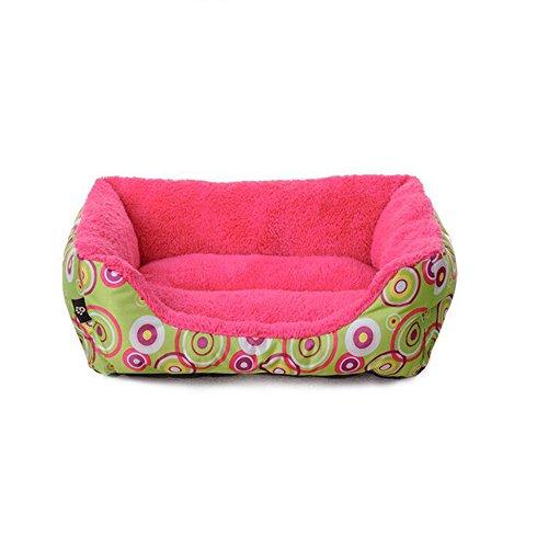 Baumwolle Samt Wurf Kissen (BiuTeFang Hundebett Katzenbett Baumwolle Pet Bett Haustier-Kissen SHU Baumwolle Samt Kreis Quadrat Katze Wurf Zwinger)