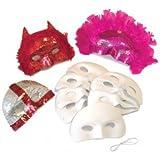 Creation Station - Juego de máscaras para media cara con elástico (acabado aterciopelado, 10...