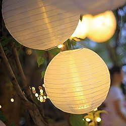Hellum LED Lampion Lichterkette außen, Warmweiß LED Lampion mit Fernbedienung 1x30cm wetterfest Laterne Beleuchtung batteriebetrieben Unterwasserlicht Teelicht Lampenschirm Party Garten 530476