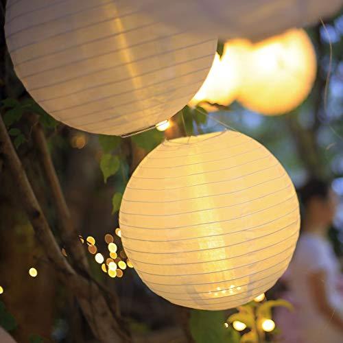 3er-Pack Hellum LED Lampion weiß außen innen wetterfest Batterie Fernbedienung Hochzeit Deko Garten Party Unterwasser Laterne Lampenschirm Balkon Outdoor Terrasse 523065