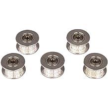 MyArmor aluminio correa de distribución polea de correa dentada con doble rodamiento de bolas para 3d impresoras cinturón GT2