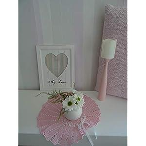 Velvet Romantic Dekoration Collection 105 (Powder Pink) Häkeln,Skandinavisch, Shabby Chic, Landhaus, Romantische, Design Klassiker Möbel für eine Moderne Elegante Wohnung