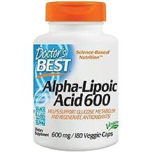 Doctors Best Alpha Lipoic Acid, 600mg, 180 Vegetarian Capsules (600mg, 180 Vegetarian