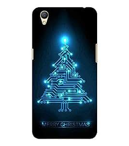 HiFi Designer Phone Back Case Cover Oppo A37 :: Neo 9 ( Merry Christmas Tree )
