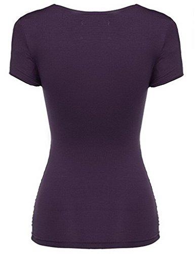 Smile YKK V-Ausschnitt Damen Shirt/Oberteil/T Shirt/ Sommer Kurzarm Lässig  ...