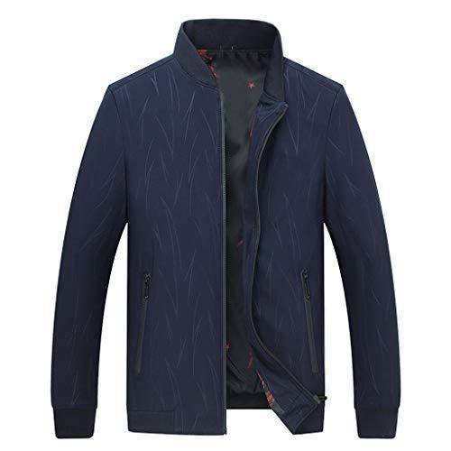 Hniunew Sweat-Jacke Denim Herren Vintage Jeans-Jacke Bomberjacke Softshelljacke Slim-Fit Langarm   Freizeit Taschenjacke Verwaschen, Casual üBergangsjacke Sweatblazer Biker Coat