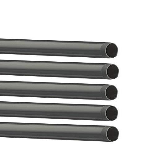 PVC Rohr 32 sowie Rohrverbinder Winkel Kniestück Muffen T-Stück Kappen (5 x 1m Rohr Ø32mm)