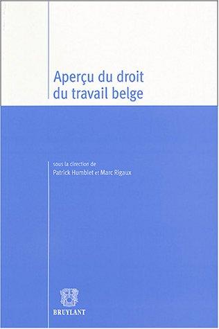 Aperçu du droit du travail belge