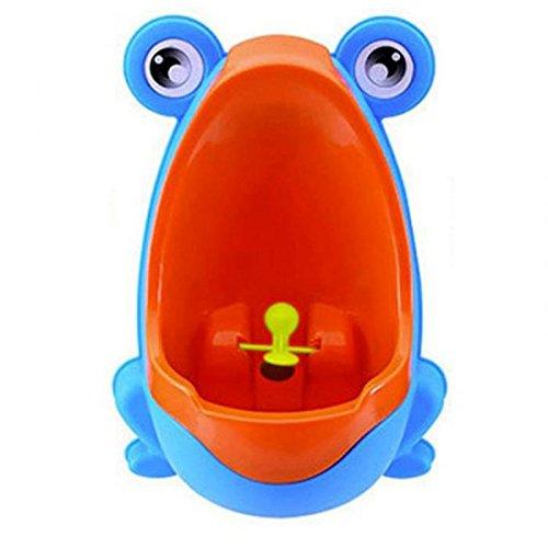valink Lovely Froggy Baby Urinal, Boy 's-WC für Kinder Töpfchen WC-Training, Kid-WC für Jungen Pee Trainer Badezimmer–Blau, 21x 15x - Jungen Für Kid Badezimmer-sets