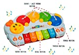 Unbekannt Baby-Klavier, Design Raupe, Melodien, Einzelne Töne, Tierstimmen, Memory-Funktion, Lichteffekte, Größe ca. 32 x 18 x 5 cm