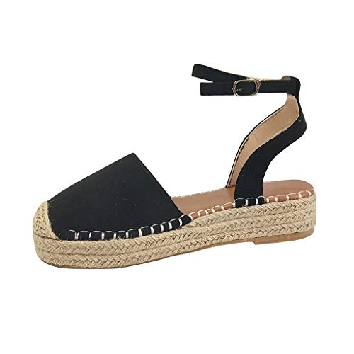 Sandalias Mujer Verano 2019 Plataforma Cuña PAOLIAN Sandalias de Fiesta Esparto Playa Zapatos Tacon...