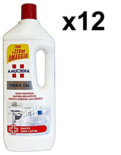 Set 12 AMUCHINA Crema Gel MULTISuperF.750+250 Ml. Detergenti casa