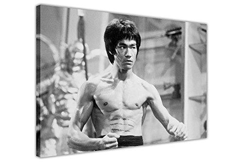 40 Zeitgenössische Leinwand (Weiß und Schwarz Bruce Lee Sie der Drache Drucke auf Leinwand Wall Art Bilder gerahmt zeitgenössisch 08- A0 - 40