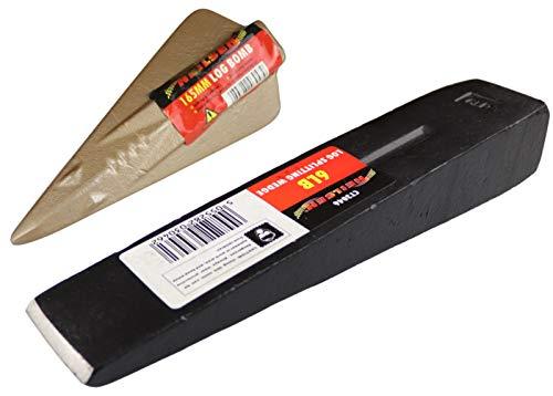 2 Neilsen Log Splitting Wood Wedges - Gold Bomb and Black Wedge