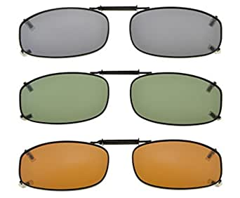 Eyekepper Metallrahmen Felge polarisierte Linse Clip auf Sonnenbrille 48x27MM Grau Linse bwApe4
