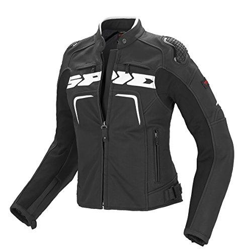 SPIDI P147-011 Motorrad Lederjacke Evorider Lady, Schwarz/Weiß, 50