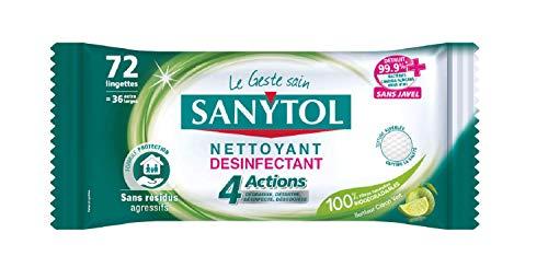 Sanytol - Toallitas desinfectantes multiusos 4 acciones