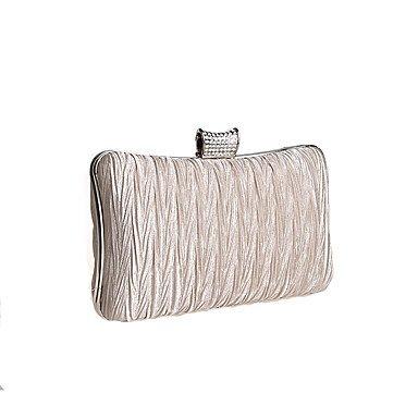 Prägnante diamond Bambus Frauen plissee Abend Tasche Handtasche Champagne