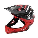 FOONEE Kinder Fahrrad Helm für Mädchen Jungen mit Verstellbarem Riemen Ziffernblatt Sicherheit Schutz leicht Atmungsaktiv Black +Red