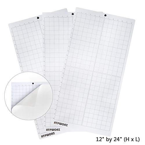 OFNMY Schneidematte PVC Schneideunterlage 12x24 Zoll Cutting Mat mit Selbstschließenden Oberfläche (3 Stück)