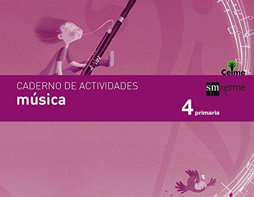 Caderno música. 4 Primaria. Celme - 9788498545449 por Fátima Batista Ponce